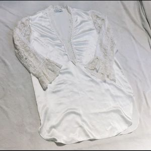 Christian Dior Lace Sleeve Nightgown